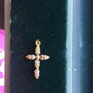 Black hills gold 10k cross pendant